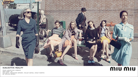 fashion advertising, fashion photography, campaign, magazines, fashion, miu miu, steven meisel